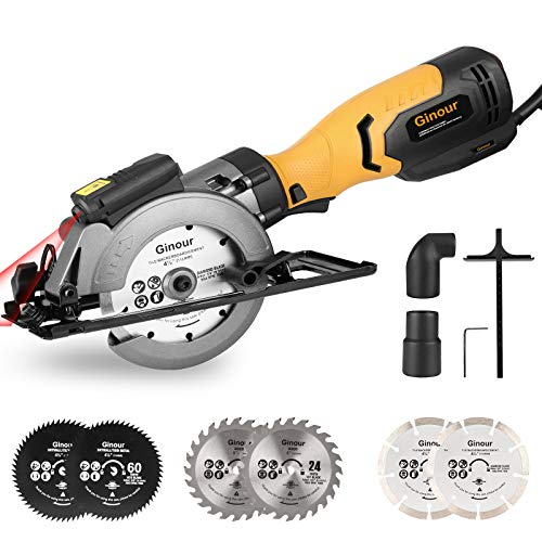 Circular Saw, Ginour 750W 3600RPM Mini Electric Circular Saw...