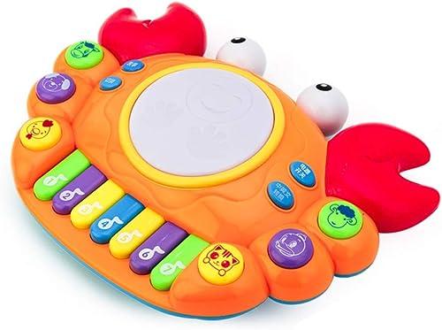 LIPENG-TOY Vorschule Baby Krabben Baby Tastatur Spielzeug Baby Musik Elektrische Spielzeug Puzzle 6-12 Monate (Farbe   Orange)