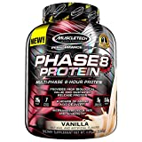 Whey Protein Powder | MuscleTech Phase8 Protein Powder | Whey & Casein Protein Powder | Slow Release 8-Hour Protein | Muscle Builder for Men & Women | Protein Powder for Muscle Gain | Vanilla, 4.6 lbs