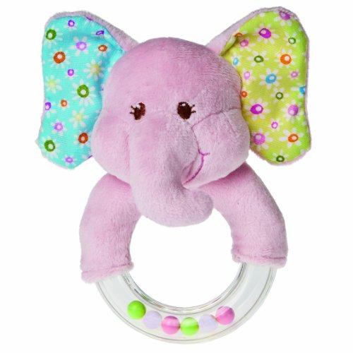 Fantastic Deal! Mary Meyer Ring Baby Rattle, Ella Bella Elephant, 5-Inch