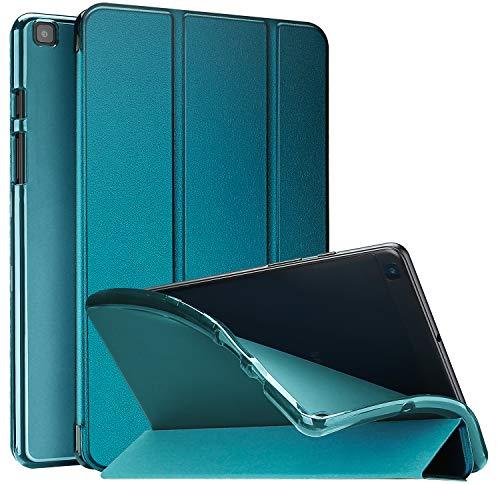 ProCase Funda Blanda para Galaxy Tab A 8.0 2019 T290 T295, Carcasa Suave con Reverso Translúcido/Tapa Inteligente, Funda TPU Flexible para Galaxy Tab A 8 Pulgadas 2019 SM-T290/T295 -Verde Azulado
