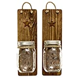 Heartful Home Decor Ball Mason Jar Wall Sconces - Primitive Country-...
