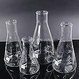 2000Ml 3 Cóncavo Gg17 Erlenmeyer Matraz Bafle de Vidrio Agitar Erlenmeyer Matraz Boro Equipo de química de Laboratorio