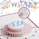 Biglietti Augurali Compleanno, 3D Pop-up Biglietti di Auguri, per i tuoi parenti, amici e amanti, biglietto di auguri pop-up 3D con bellissimi ritagli di carta, busta inclusa (compleanno)