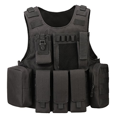ArcEnCiel Tactical Molle Vest, Black