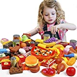 Tencoz Play Food Set, 139 Pieces Play Food Kitchen...