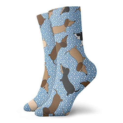 N/A Anzug-Socken,Business Socken,High Performance Tennissocken,Sport/Sneaker Socken,Tanzende Dackel Feuchtigkeitskontrolle Laufsocken Langlebige Atmungsaktive Trainingssocken