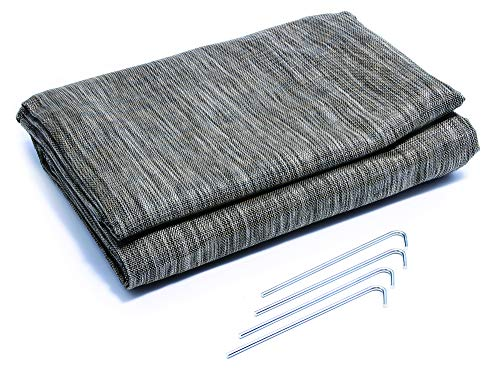 Camco Durable Reversible RV Camper Awning Mat with Carry Bag - Mildew and Rust Resistant...
