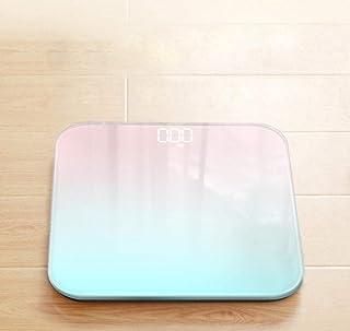 sufengshop Báscula de pesaje corporal Básculas corporales inteligentes Pantalla LCD Báscula de peso digital de vidrio Báscula de baño Básculas electrónicas de piso Health Balance-A