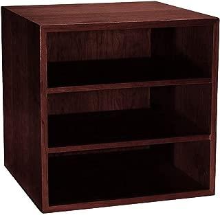 Levenger Cubi Desk Bookcase - Dark Cherry
