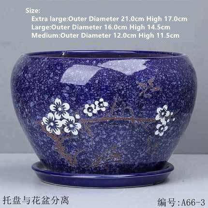 HONIC Chinesischen Stil Keramik-Blumentopf Großhandel Orchidee grüne Pflanze Topf Wasserabsorbierende atmungs Bonsai Topf Garten Keramiktöpfe: 06 Stil, Große