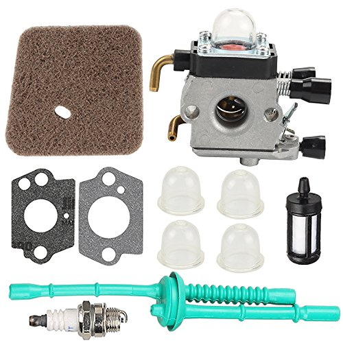 Harbot C1Q-S186 C1Q-S186A C1Q-S186B Carburetor with Fuel Line Kit Air Filter for STIHL FS38 FS45 FS46 FS55 KM55 HL45 FS45L FS45C FS46C FS55C FS55R FS55RC String Trimmer Weedeater