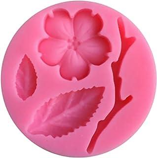 MagiDeal 3D Flor de Melocotón Silicona Jabón Molde de Torta Pasta Azúcar Bakeware
