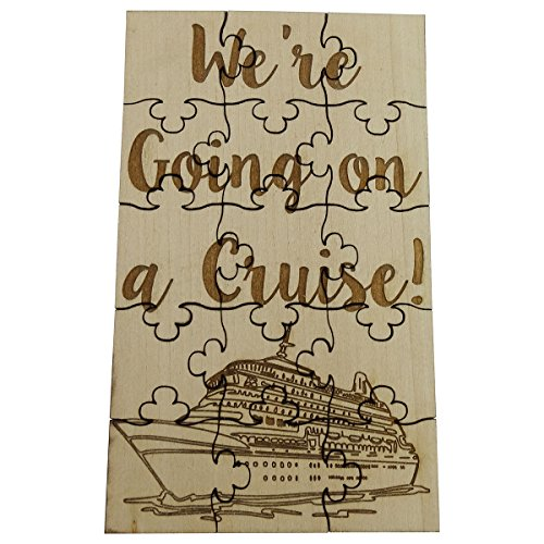 We're Going On A Cruise - 15 Piece Basswood Jigsaw Puzzle, 6' x 3.5' Surprise Vacation Reveal