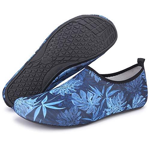 TcIFE Badeschuhe Damen Herren Aquaschuhe Wasserschuhe Strandschuhe Schwimmschuhe Surfschuhe Barfuß Schuhe für Wassersport Beach Pool Surfen Yoga