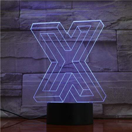 jiushixw 3D acryl nachtlampje met afstandsbediening van kleur veranderende lamp tekens vormbaar kinderen desktop laser mango houten tafellamp