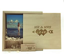 LXSINO Wood USB Flash Drive with Laser Engraved Mr & Mrs...