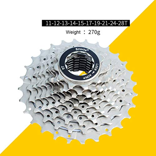 OULATUWB 10 Speed Road Bike Flywheel, Bike Flywheel Sprocket for Sports and Outdoo (Size : 28T)