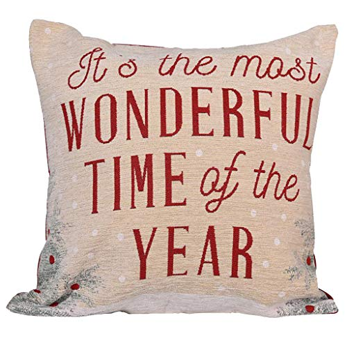 PTMJ Christmas Sofa Decorations Pillow Covers For Home Cartoon Print Cushion Cover Snowman Dog Christmas Classic Pattern Print Throw Pillow (Multicolor #A)