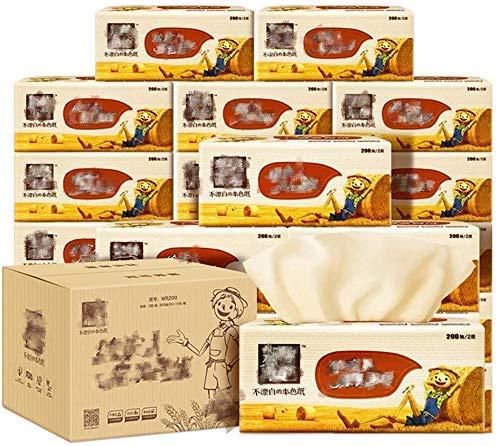 Wxxdlooa Multifold Paper Handdoeken Facial Tissue, Straw Puree Natuurlijke Kleur Gezondheidspapier Handdoek Huishoudelijke Flexibele Huid C Vouwpapier (188mm*140mm)