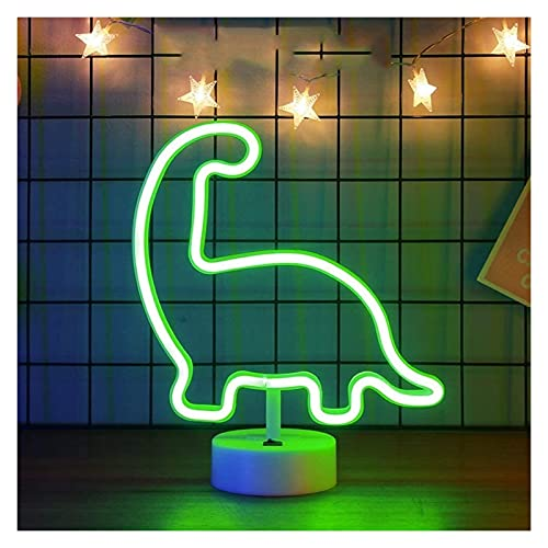 CMMT lámpara de Pared Luz de Noche de atmósfera de neón LED decoración del hogar luz de Noche Estilo Dinosaurio USB Creativo Moda Minimalista Moderno