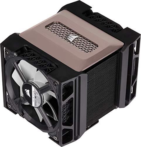 Corsair A500, High-Performance-CPU-Kühler mit Doppellüfter (Kühlt bis zu 250W TDP, Intuitives Lüfterhalterungssystem, Zwei Corsair ML120-Lüfter, Aufgetragenes Bereits Wärmeleitmittel) Schwarz