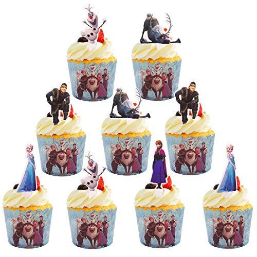 YUESEN Mini Muffin Förmchen 60 Stück Frozen Cupcake Papierförmchen Liner Muffin Backförmchen Cupcake Fällen Kuchen Backen Muffin Dessert Hochzeit Party