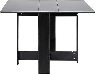 MUPAI Table Pliante/Tables de Cuisine/Bureau d'écriture - Économie d'espace, 103x76x73,4cm (Noir)