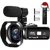 4K Camcorder Ultra HD Digital Video Camera 48MP WiFi Vlogging Camera for Youtube