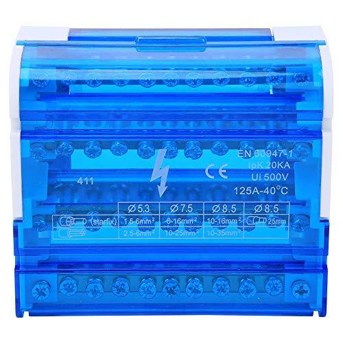 Caja de distribución de terminales Regleta de bornes Caja de conexiones Carril...