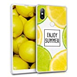kwmobile Xiaomi Mi Mix 2S Hülle - Handyhülle für Xiaomi Mi Mix 2S - Handy Case in Sommer Zitrusfrüchte Design Gelb Grün Transparent