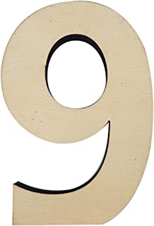 Trimming Shop Wooden Number 9 Tiles Beige Wooden Embellishments for Crafting, Replacement, Arts, Crafts, Games, Wall Frame...