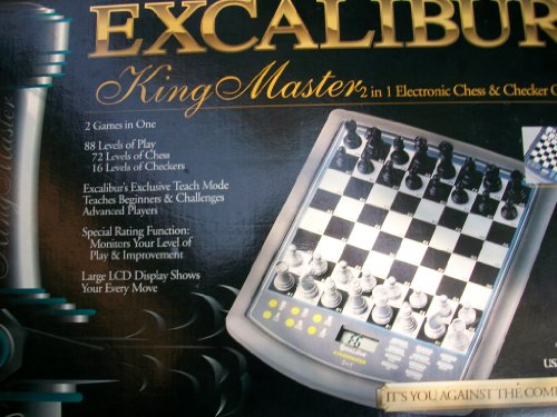 Excalibur King Master 2 in 1 Electronic Chess & Checker Game