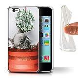 Stuff4 Coque Gel TPU de Coque pour Apple iPhone 5C / Chiot Gui Design/Fête de Noël Collection