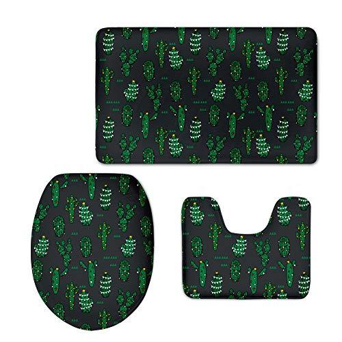 YSDDM badmat 3 stks/set anti-slip dikker wc badmat set U-vormig wc-badtapijt op maat vloer tapijt wc-stoelhoezen van huis & tuin