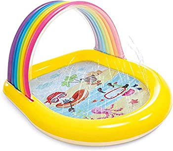 Intex Rainbow Arch Spray Pool Infltable Kids Pool for Ages 2+ Multi