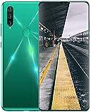 YGXR Teléfono móvil 5G SIM Gratis Desbloqueado, 2020 A91 Android 10 Smartphones, Dual SIM, 4GB RAM + 64GB ROM, Pantalla de Gota de rocío de 6.7 Pulgadas, Cámara de 13MP + 24MP, Verde