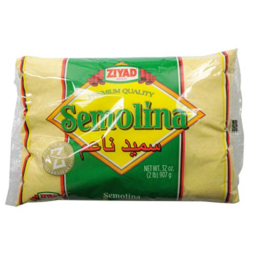 Ziyad Semolina Wheat, Smeed, Semolina Flour, Perfect for Stews, Soups, Gravy, Baking Breads, Biscuits, Pizza Crust with Low Fat, High Protein, High Fiber! 32 oz