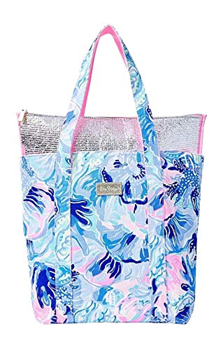 Lilly Pulitzer Removable Cooler Tote Salt Water blue Shade Seekers