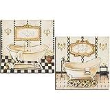 Cuadros decoración baño Rustico 24X24X7, polímero barniz impermeable con adhesivo industrial para...