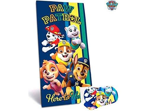 Paw Patrol Toalla de Playa Poliester, Multicolor