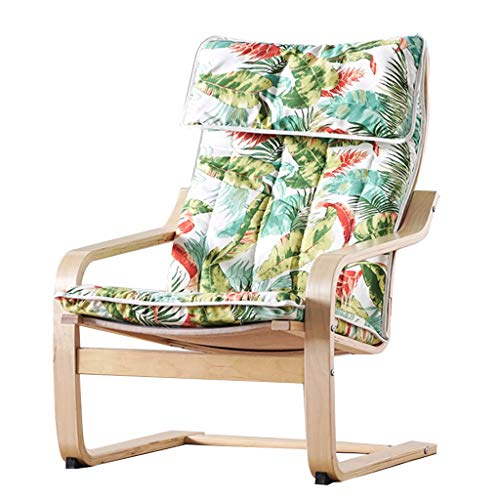 SjYsXm-recliners Comfortable Relax Rocking Chair Lounge Chair Adult Elderly Chair Easy Chair Wood Nap Chair Lazy Chair Armchair Single Rocker Cozy Deck Chair (color : Log color frame)