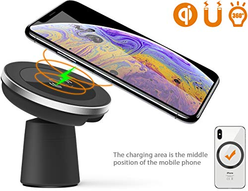 car mount and wireless magnetic car charger