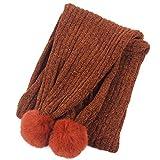 Miwaimao - Bufanda de invierno para niños, color sólido cálido y suave al...