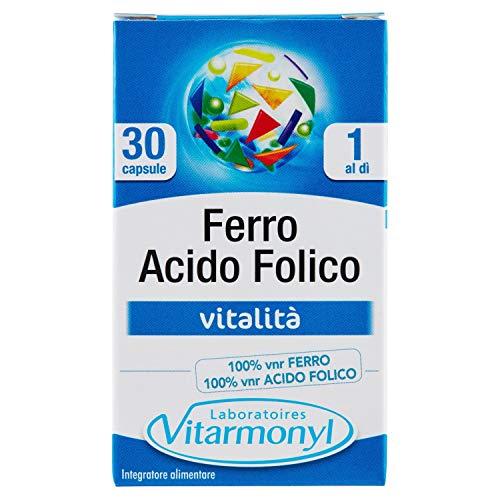 Vitarmonyl Ferro Acido Folico Integratore - 30 Capsule