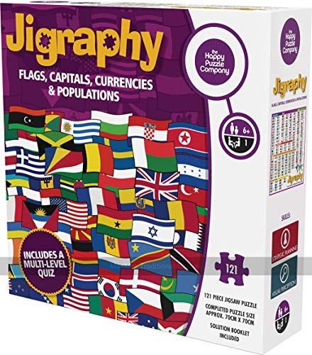 Jigraphy Flags, Capitals, Currencies and Populations Jigsaw