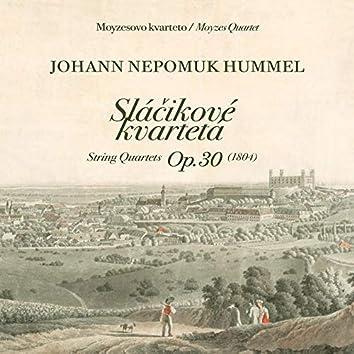 Johan Nepomuk Hummel, Sláčikové kvartetá OP. 30