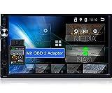 Tristan Auron BT2D7025A Android 10.0 Autoradio + OBD 2-7' Touchscreen I mit Navi GPS Bluetooth Freisprecheinrichtung I 32GB USB SD DAB Plus 2 DIN