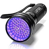 Loftek 51 LED Lampe Torche UV de Poche Flashlight Blacklight Lumière Ultra Violet 395nm Détecteur Anti...