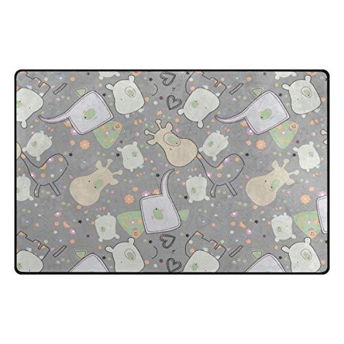 FANTAZIO - Accessoire de Tapis pour Coins et Bords - Anti-bouclage - Idéal pour empêcher Les éléphants et Les girafes - 78,7 x 50,8 cm - 152 x 99,1 cm, Polyester, 1, 60 x 39 inch